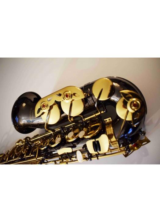Saxophone : Alto nickel noir clétage doré 6430 BN